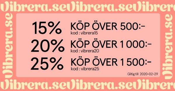 Kampanj: 25% rabatt hos Vibrera!. Av Vibrera